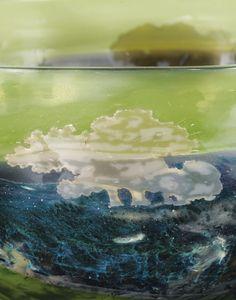 Emile Gallé COUPE LA NATURE, VERS 1900 'LA NATURE', A MARQUETERIE SUR VERRE AND INTERNALLY DECORATED WITH POWDERS AND OXIDES CAMEO GLASS BOWL, CIRCA 1900. SIGNED verre multicouche à inclusions de poudres et oxydes intercalaires et marqueterie sur verre partiellement irisée Signé Gallé en intaille sur le flanc 25,5 x 44 cm (10 x 17 3/8 in.)