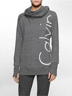 Calvin Klein Womens Performance Funnel Neck Sweatshirt