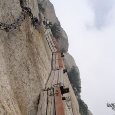 One of the most dangerous hikes in the world found at Mount Hua Shan in China