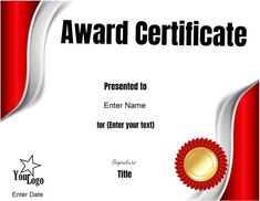 These free certificate templates can be used for any purpose. You can customize the text with our free online certificate maker. Certificate Layout, Certificate Maker, Free Certificate Templates, Free Certificates, Graphic Design Brochure, Edit Online, Classroom Bulletin Boards, Text You, Libros