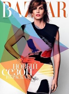 Cindy Crawford by Xavi Gordo on the cover of Harper's Bazaar Russia March 2014 Cindy Crawford, Fashion Magazine Cover, Fashion Cover, Magazine Covers, Magazine Images, Vogue Magazine, Magazine Design, Claudia Schiffer, Naomi Campbell