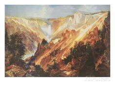 The Grand Canyon of the Yellowstone Posters by Thomas Moran - AllPosters.co.uk