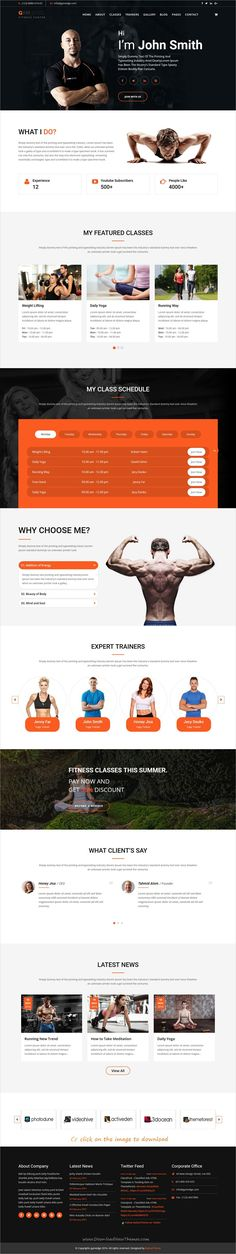 GymEdge is clean and modern design 4in1 responsive #Joomla template for #gym #fitness, personal #trainer and yoga centers website to download click on image.