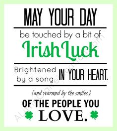 Irish luck plus 24 Free Printables for March at ALittleClaireification.com #Free #Printables