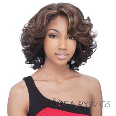 Natural Medium Curly Brown Side Bang African American Lace Wigs for Women 14 Inch