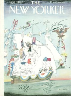 Saul Steinberg : Cover art for The New Yorker 1857 - 17 September 1960