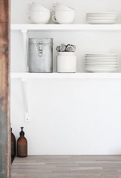 Kitchen, white, simple, clean look, rebel.