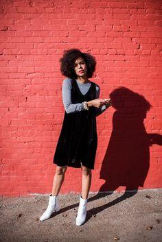 black velvet swing dress - STYLE ME GRASIE