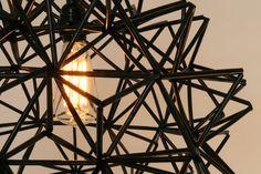 The Seagram Pendant Black Himmeli Inspired door Zipper8Lighting