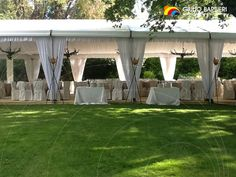The double gable end #tent 'Coprifacile' is an excellent event tent for hire, due to its #compact dimensions, ease of installation and the high wear #resistance of its materials.