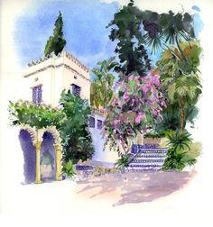 Catherine Rossi (née en 1957) « Alger, Palais du Bardo, entrée et bougainvillées » 2011