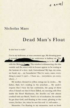 Dead Man's Float by Nicholas Maes; design by David Drummond...