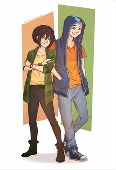 Toph and aang modern