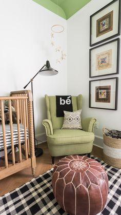 Residents Understood featured on Project Nursery - Modern Black and White Nursery with Green Accents