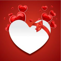 Hearts On Red background, Happy Valentines Day Wallpapers | Amazing Photos