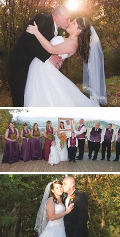 Rustic fall cabin wedding photographed by @phototechphotos | The Pink Bride www.thepinkbride.com