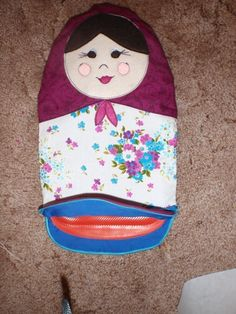 Babushka/Matryoshka Hot Water Bottle Cover  •  Free tutorial with pictures on how to make a hot water bottle in under 180 minutes