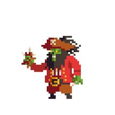 'Gonna sting, not gonna sting? Here is LeChuck, for an humble pixelarted tribute to the wonderful Monkey Island.