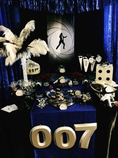 How cool is this James Bond 007 birthday party! See more party ideas at CatchMyParty.com!