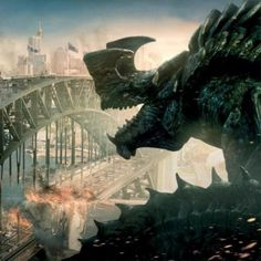 Pacific Rim 'Jaeger Vs. Kaiju' Banner -- To fight monsters we created monsters in this summer thriller from director Guillermo del Toro. -- http://wtch.it/053zx