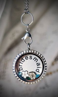 "Silver ""bling"" locket with charms!"