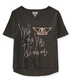 Aerosmith® Hi-Lo Graphic T - Aeropostale