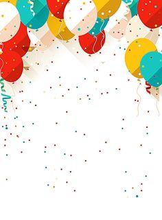 Vector Cartoon niños globos de colores de fondo, Vector, Cartoon, Niño, Imagen de fondo