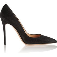Gianvito Rossi Gianvito Pumps in Black Suede as seen on Kate Middleton Black  High Heel Pumps 96b9cd5cd1fa