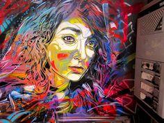 Graffiti technique pochoir street art C215