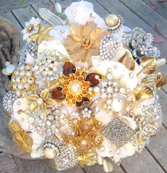 Heirloom jeweled bouquet