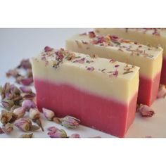 Handmade Cold Process Shea Butter Soap ($6.99) ❤ liked on Polyvore featuring beauty products, bath & body products and body cleansers