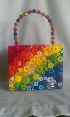 Somewhere Over the Rainbow Cigar Box Purse. $50.00, via Etsy.
