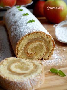 rolada z jabłkami Baking Recipes, Cake Recipes, Apple Pie Bars, Polish Recipes, Pumpkin Cheesecake, Christmas Baking, Sweet Tooth, Food And Drink, Sweets