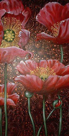 Dancing Poppies II by Cherie Roe Dirksen