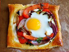 Red Pepper and Baked Egg Galettes