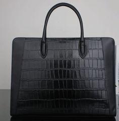 2-tone crocodile patterned leather-nylon beauty!
