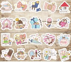20 PCS Kawaii Princess Accessories Series 2 Die cut stickers,Cute Sticker, Decorative Stickers,Planner Stickers,Japanese Stickers,Kawaii by GinkoSupplies on Etsy