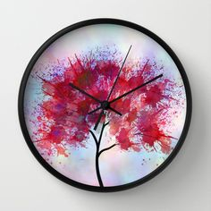 Indian+Summer+Wall+Clock+by+Klara+Acel+-+$30.00