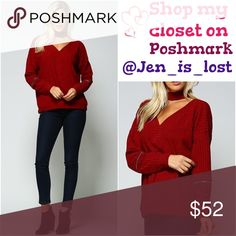 🔶Was $41🔶 Red Ribbed Top Red ribbed top with zipper arms.96.5% polyester 3.5% spandex Sweaters