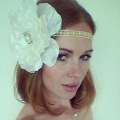 Great Gatsby 1920s Gold Ivory Flower Headband -  Daisy Buchanan by {Miss S-a Headbands}