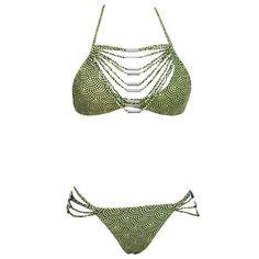 Strappy Drape Detail Halter Bikini Maverlly  #shopnow #fashion #boutique #Shopping #Fashionista