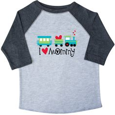 Valentine I Heart Mommy Toddler T-Shirt Heather and Smoke $24.99 www.homewiseshopperkids.com