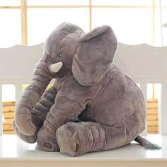 Large Elephant 40cm//60cm Plush Doll Pastel Baby Kids Cute Stuffed Teddy Bear
