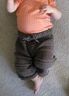 knit baby pants