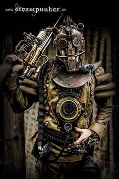 Safari Steampunk Anyone? Steampunk is a rapidly growing subculture of science fiction and fashion. Steampunk Kunst, Steampunk Mode, Chat Steampunk, Costume Steampunk, Steampunk Artwork, Steampunk Accessoires, Style Steampunk, Steampunk Design, Steampunk Clothing