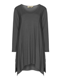 Isolde Roth Long jersey top in Grey