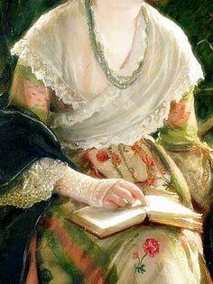 Woman Reading, Detail. by Robert James Gordon