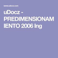 uDocz - PREDIMENSIONAMIENTO 2006 Ing