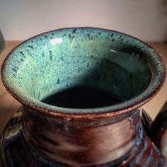 I'm a sucker for turquoise. Travelers mug close up.                                                                                                                                                                                 More