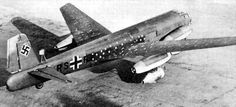 The Junkers Ju 287 was a Nazi Germany aerodynamic testbed built to develop the technology required for a multi-engine jet bomber.